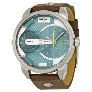 Diesel Time Dial Brown Leather Men's Watch DZ73210